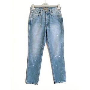 NWT Point Sur for J. Crew Straight-Leg Blue Jean with Paint, Size 27